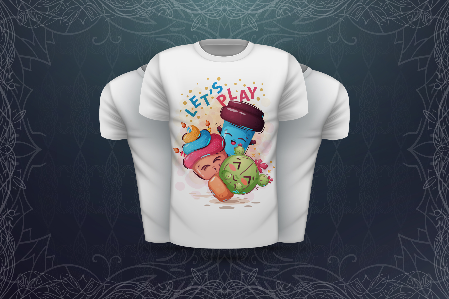 Set cute animals - for print t-shirt example image 7