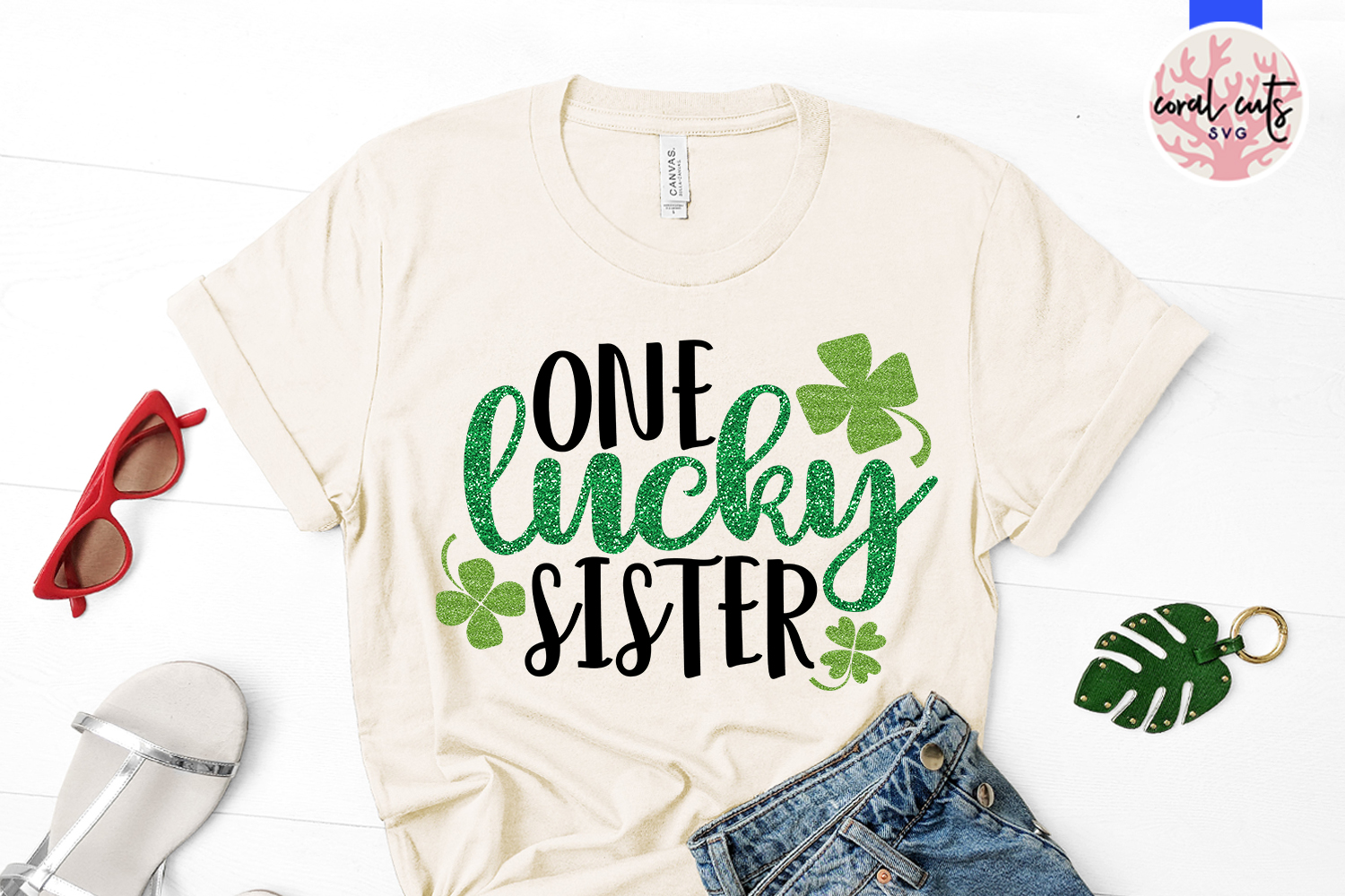 One lucky sister - St. Patrick's Day SVG EPS DXF PNG example image 2
