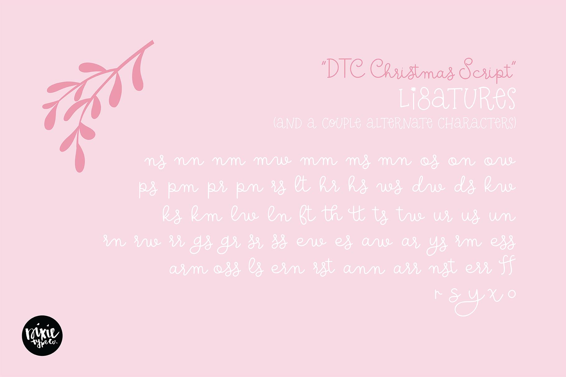 CHRISTMAS MISTLETOE a Script - Serif Christmas Font Duo example image 12