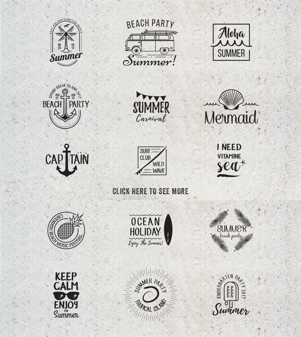 15 Summer Logo Labels & Badges Bundle example image 3