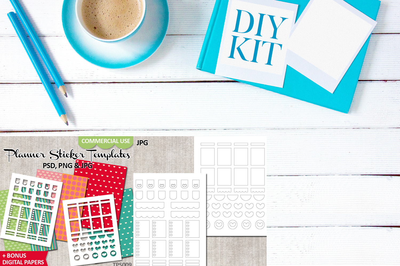 Planner Stickers Templates Bundle Vol. 3 - Digital Kit example image 4