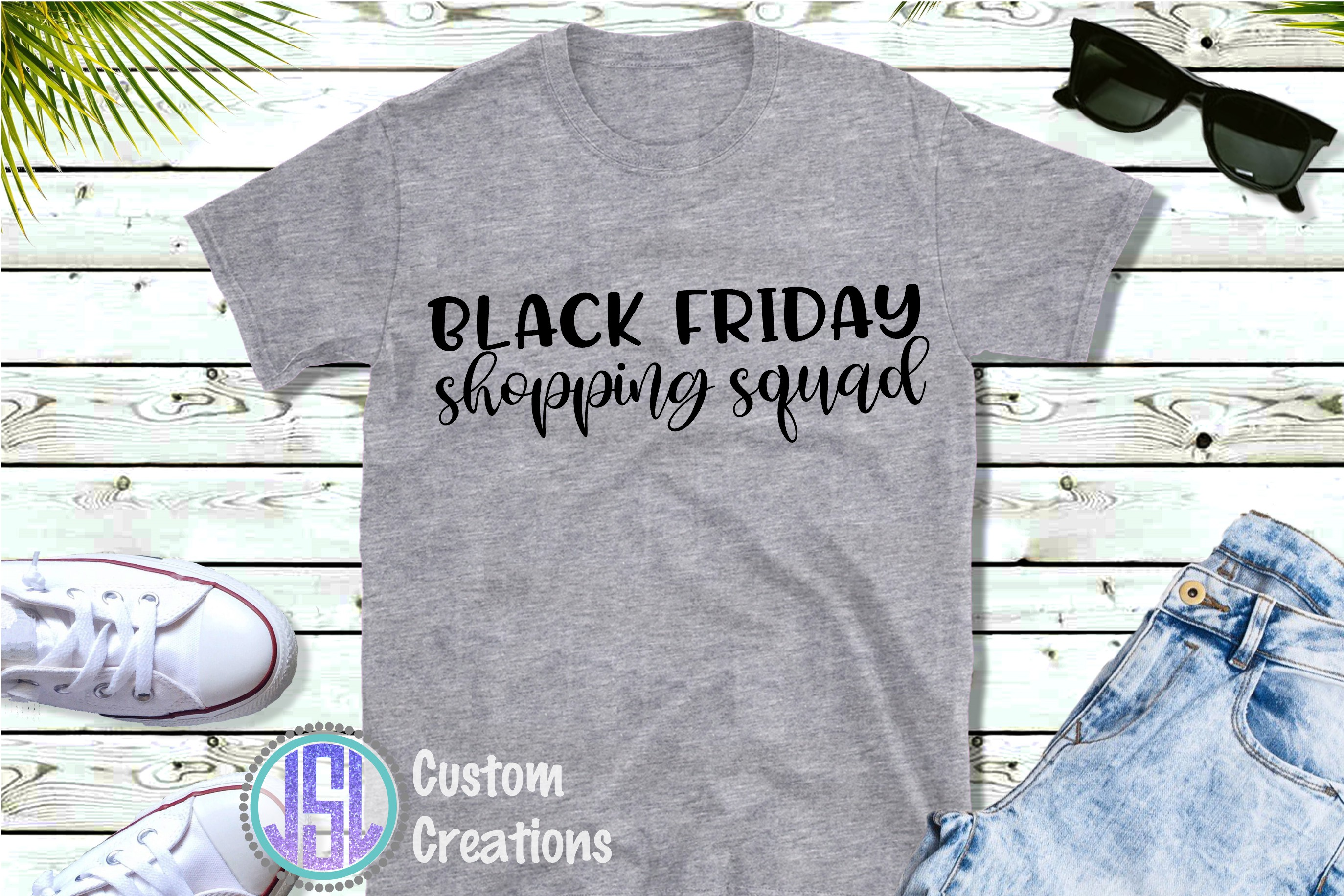 Black Friday Shopping Squad   SVG DXF EPS PNG example image 2