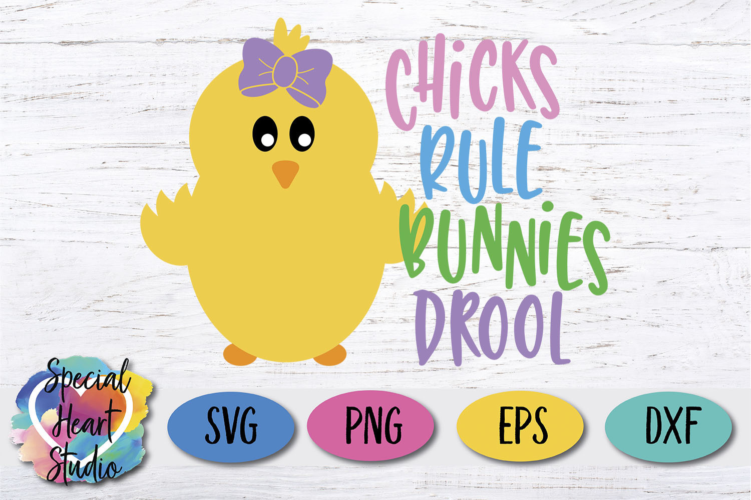 Chicks Rule Bunnies Drool - Easter SVG Girl Easter Cut File example image 2