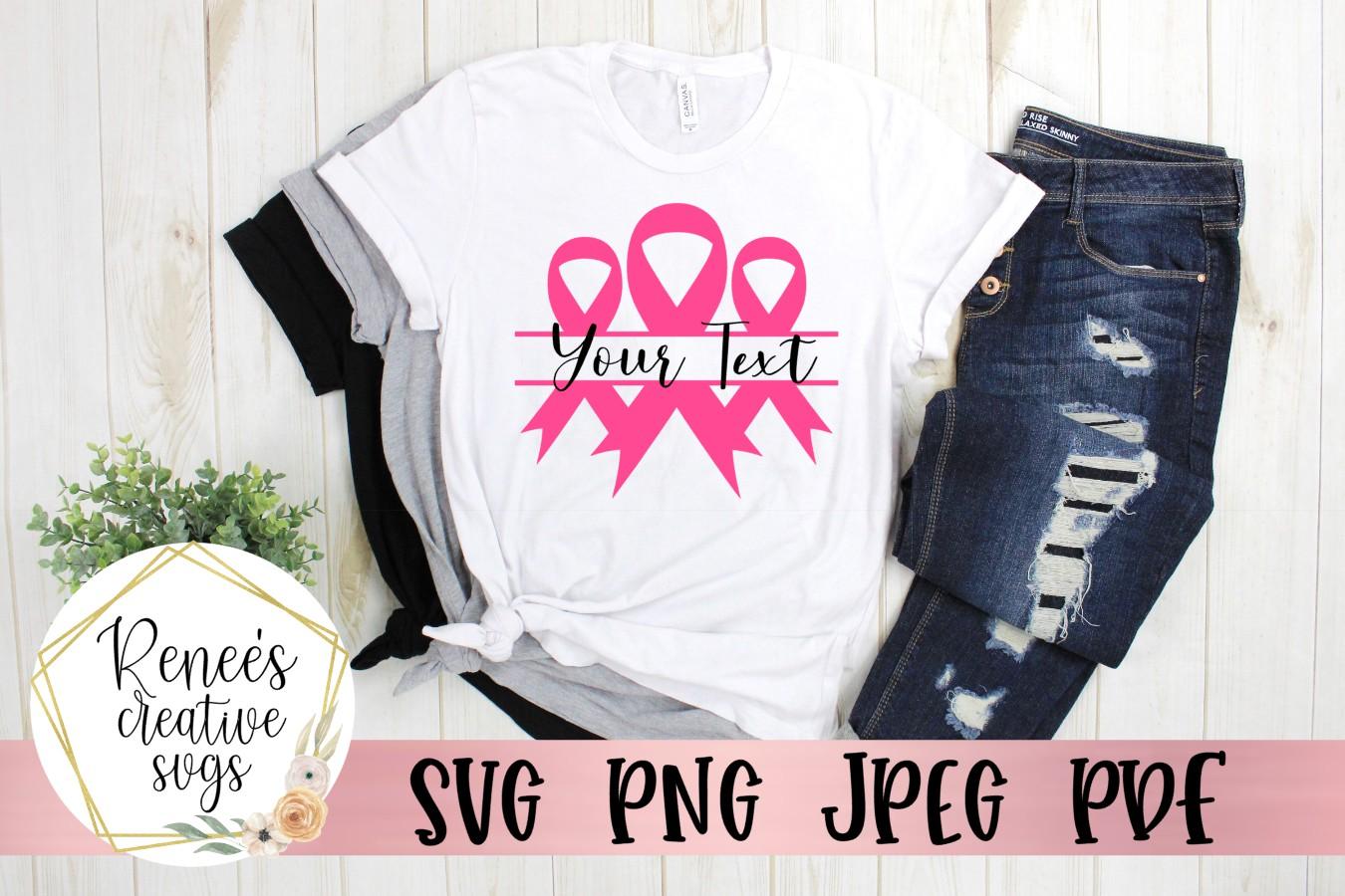 Breast Cancer Awareness Monogram|Breast cancer awareness SVG example image 2
