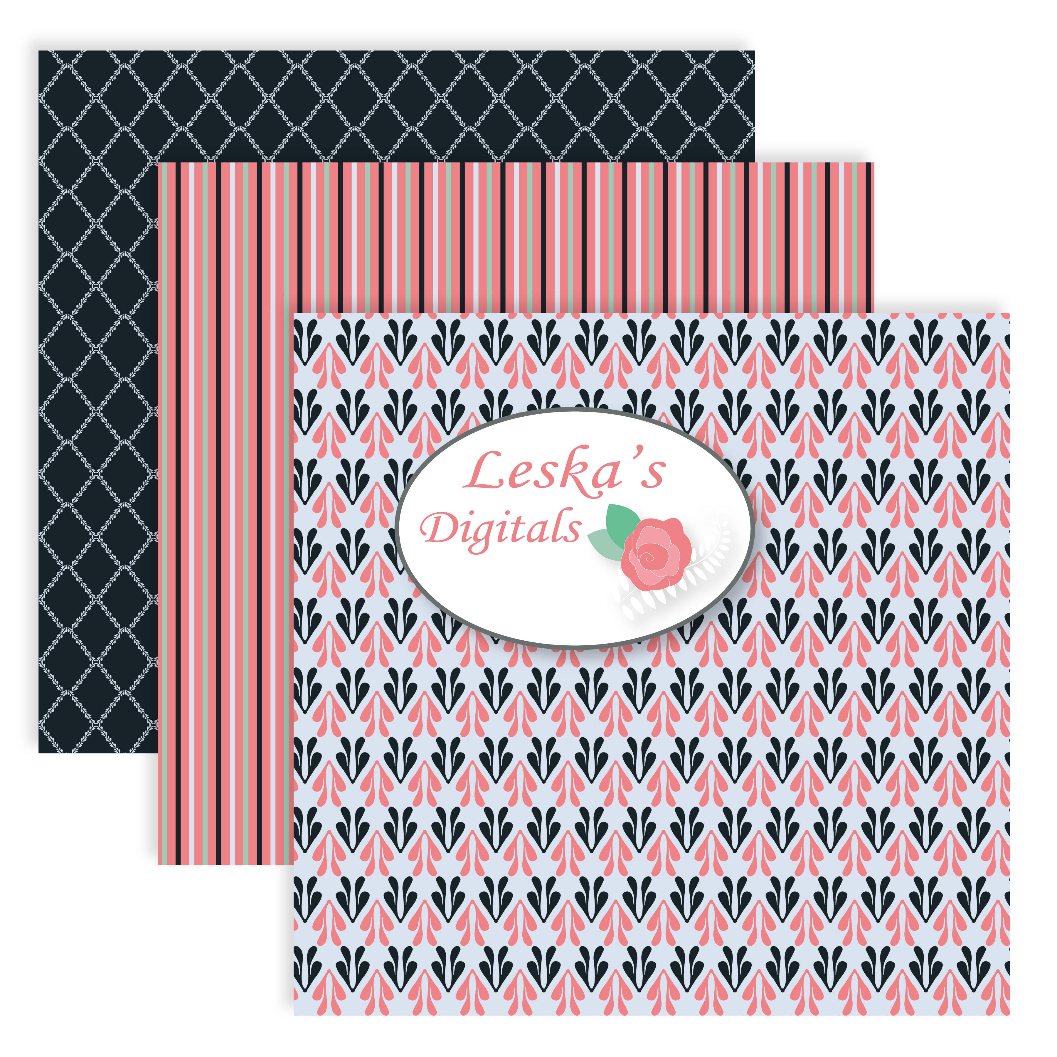 Digital Scrapbook Paper example image 4