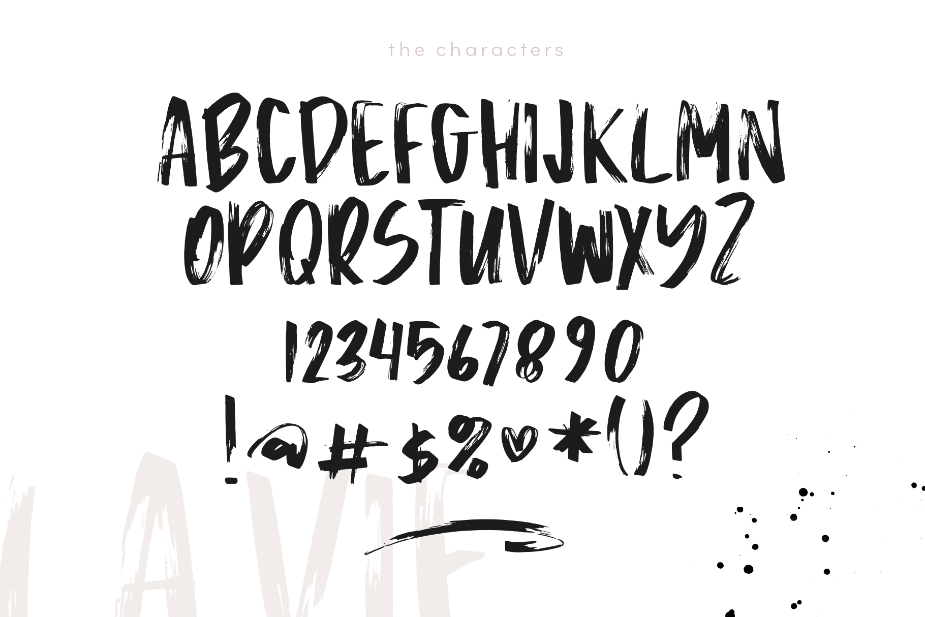 La Vie - A Handwritten Brush Font example image 8