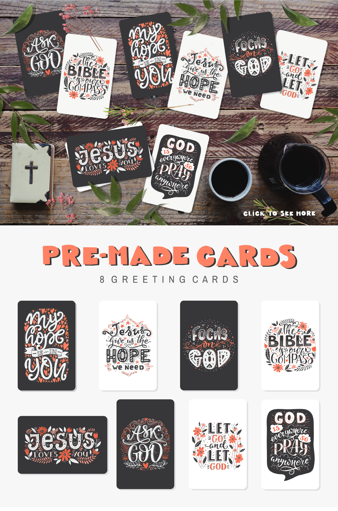 Bible lettering PACK example image 5