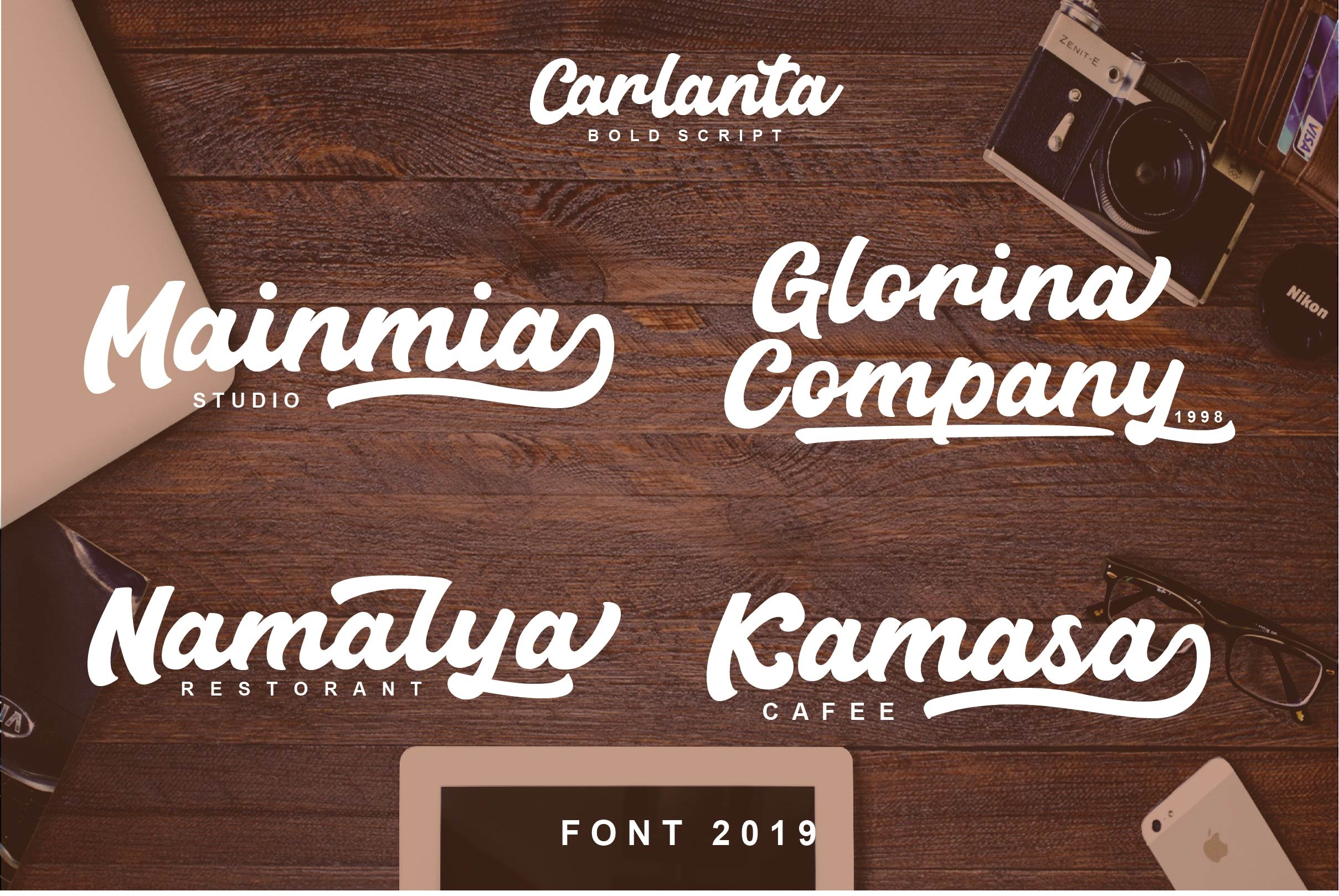 Carlanta Bold Script example image 2