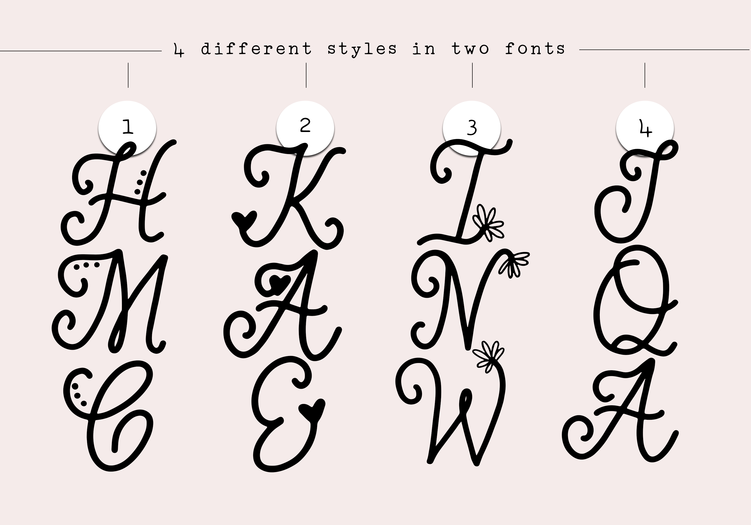 Handwritten Monogram Font - Four Styles example image 6