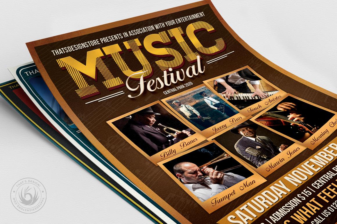 Concert Live Flyer Bundle V5 example image 5