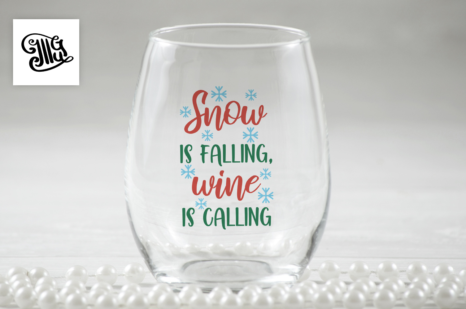 Snow is falling, wine is calling - Christmas wine example image 1