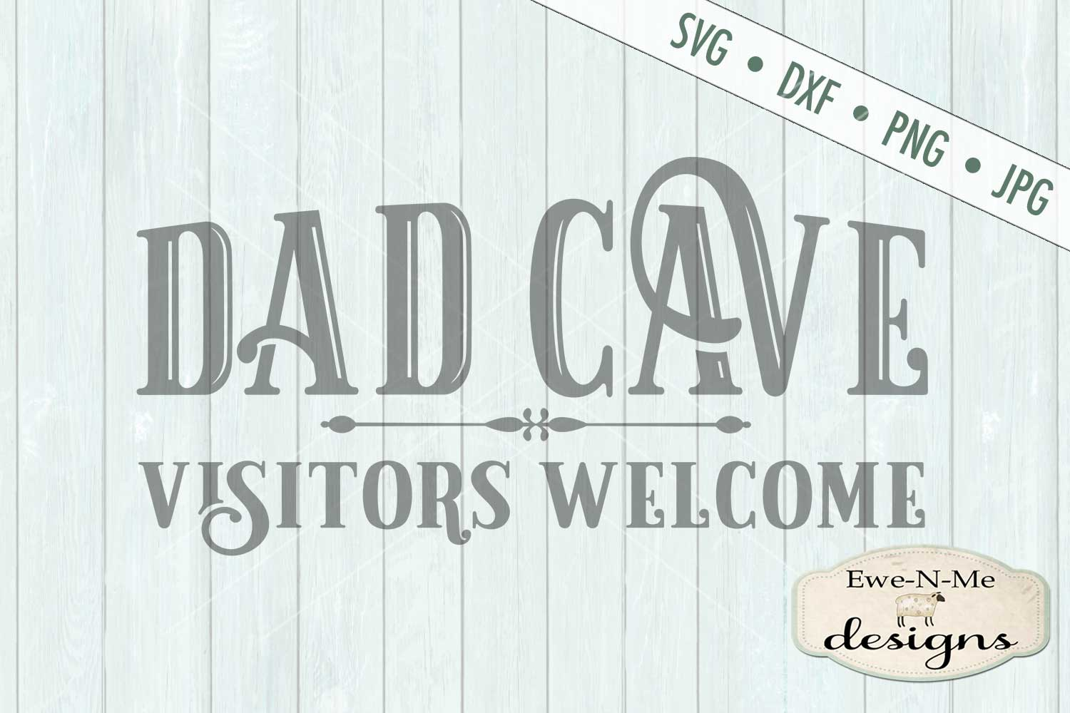 Dad Cave Father's Day SVG DXF Cut File example image 2