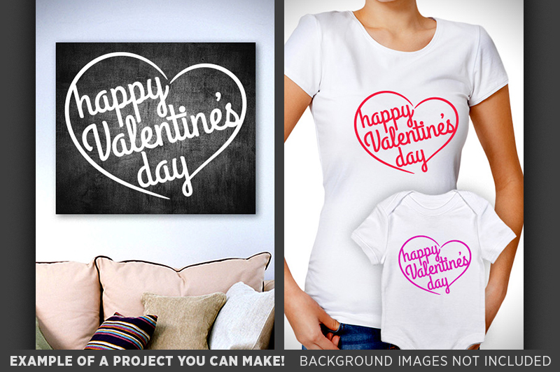 Happy Valentines Day Sign SVG - Valentines Day SVG - 1512 example image 2