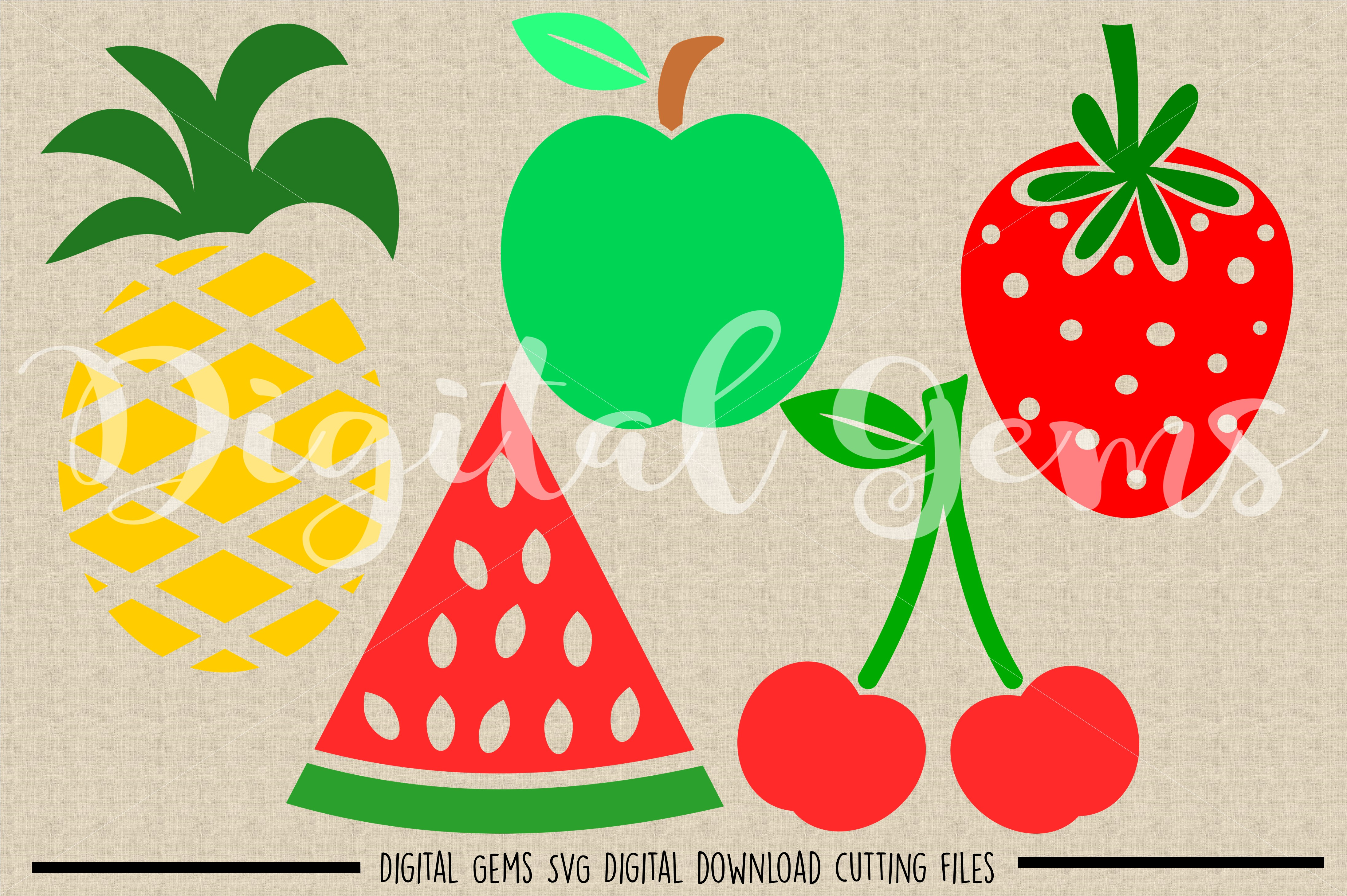Fruit SVG / DXF / EPS / PNG files example image 2