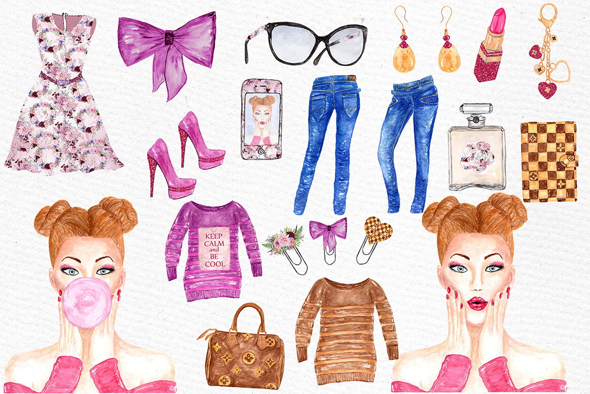 Fashion Girl clipart example image 2
