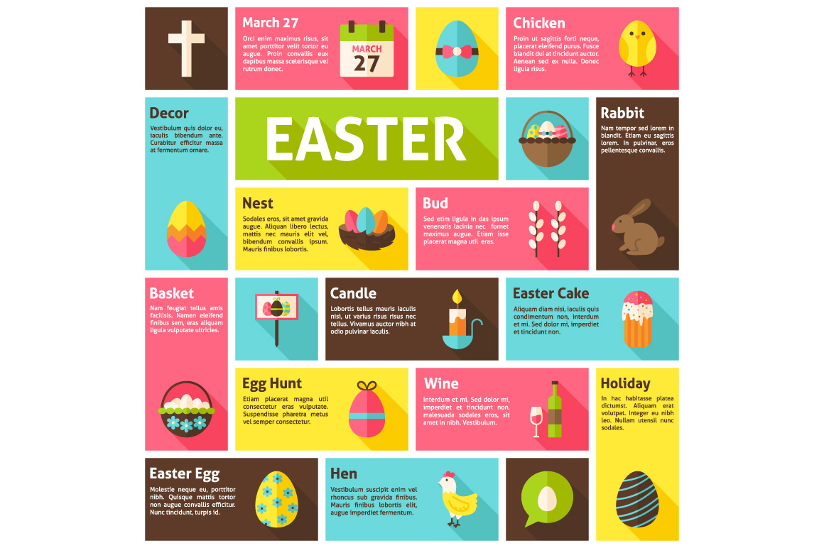 Easter Vector Flat Infographics example image 2