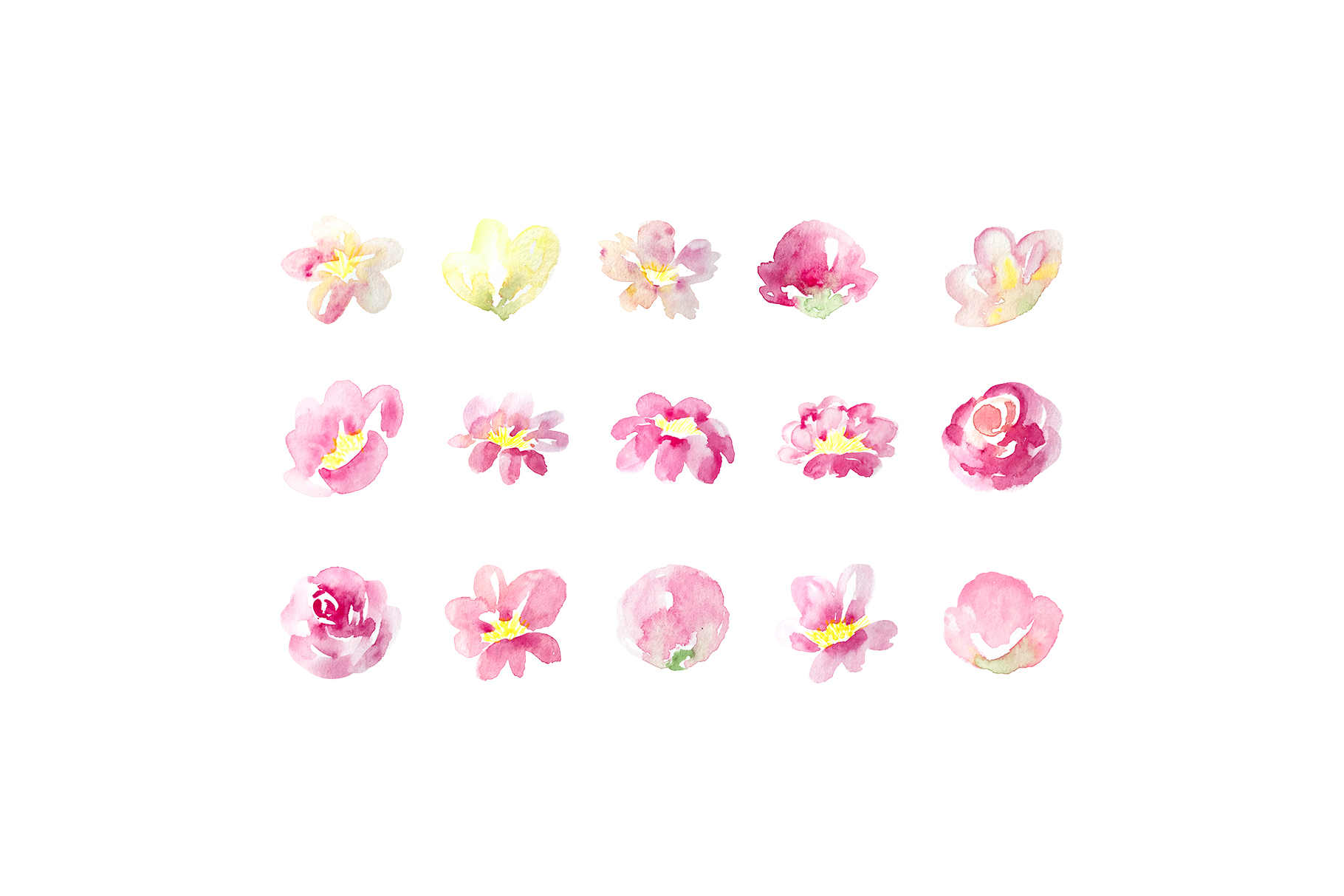Pastel watercolor spring floral illustrations example image 3