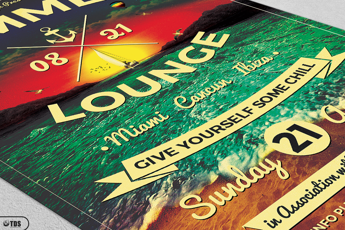 Summer Lounge Flyer Template V3 example image 5