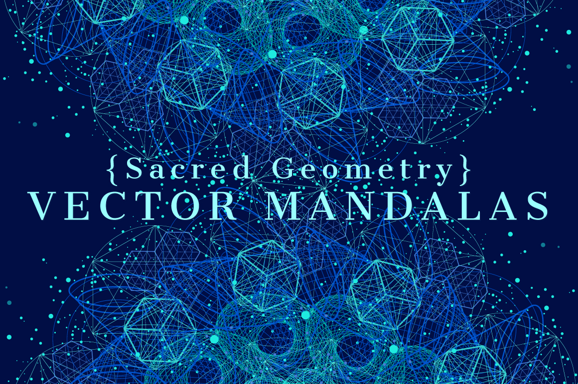 {Sacred Geometry} VECTOR MANDALAS example image 1