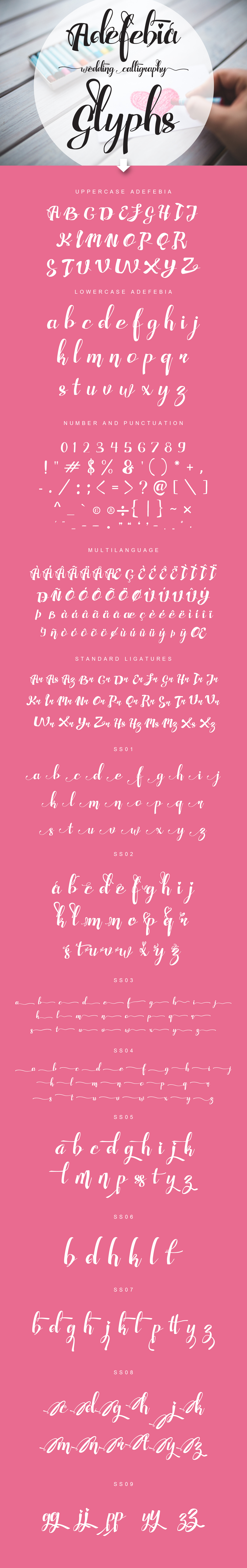 Adefebia Wedding Script Font example image 2