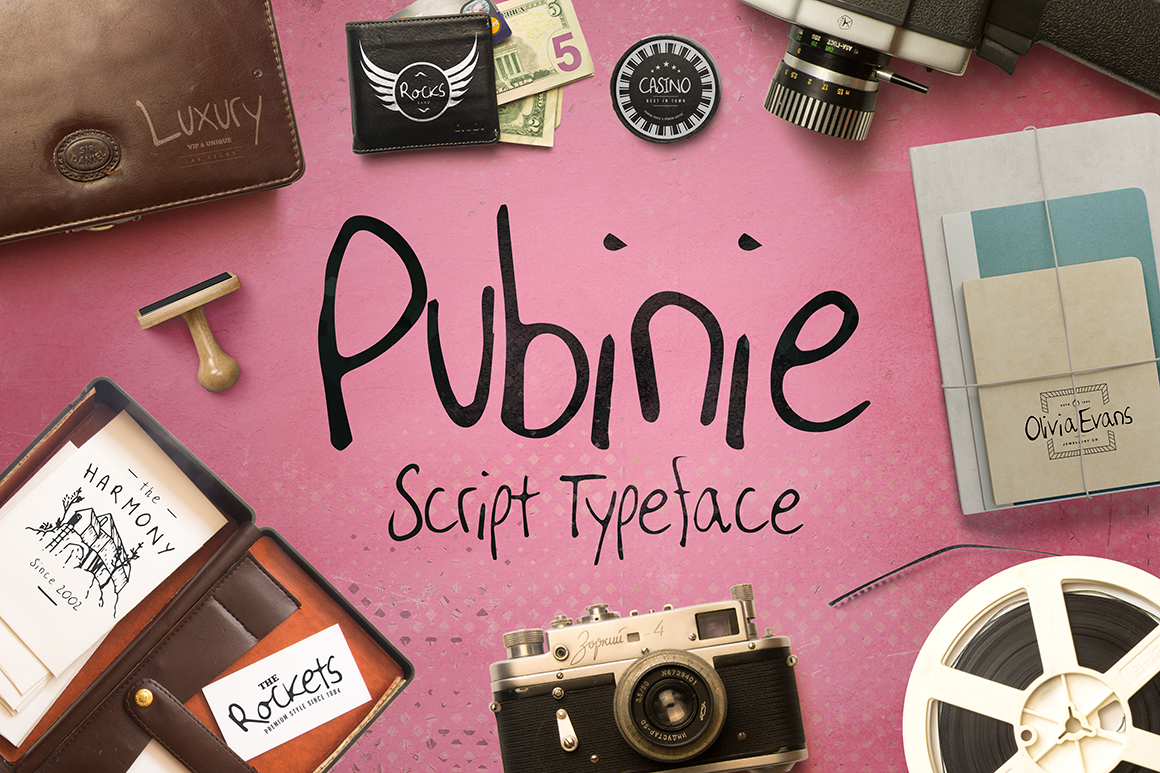 Pubinie font example image 1