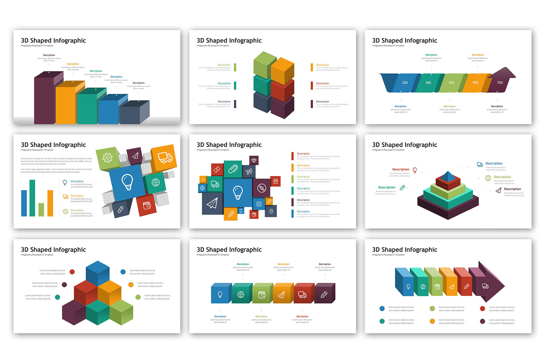 3D Infographic Presentation - Infographic Template example image 10