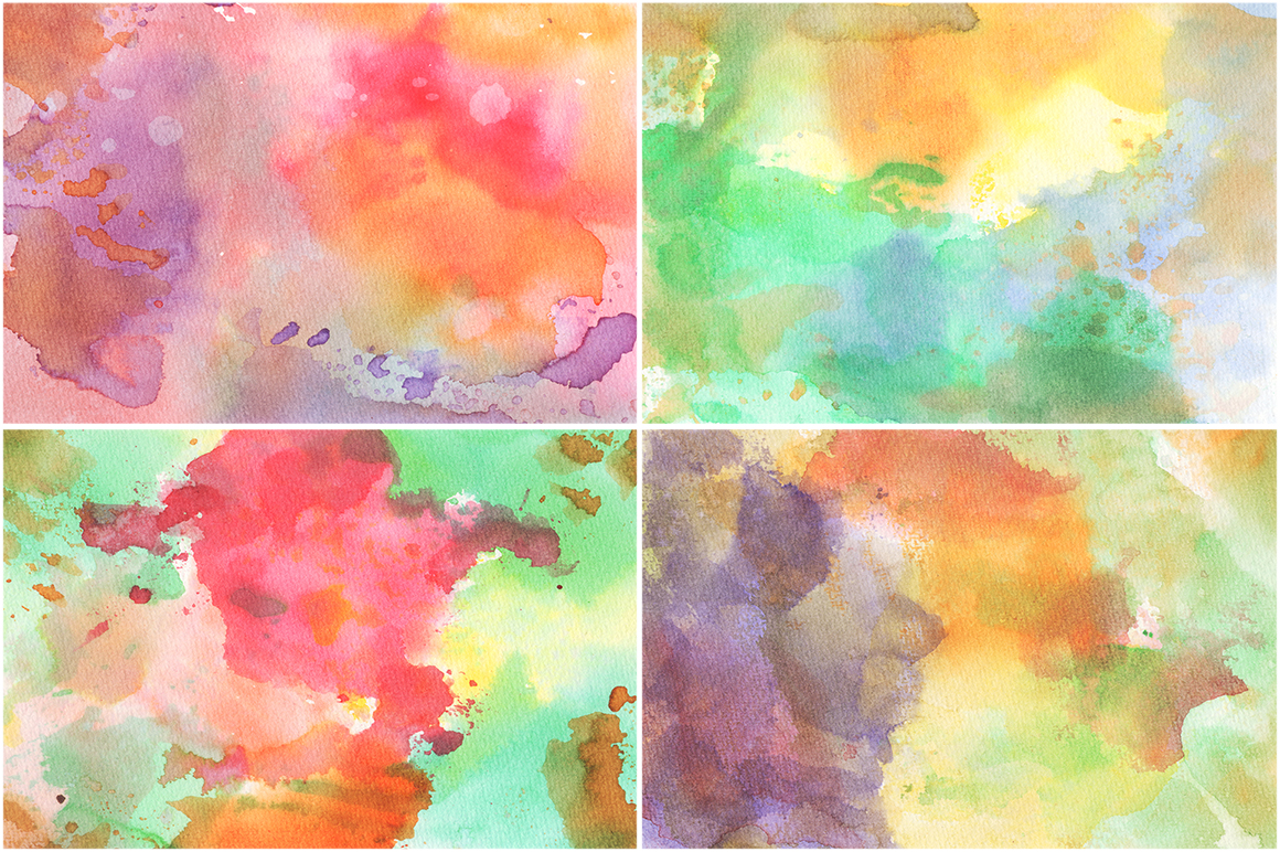 20 Watercolor Backgrounds 01 example image 5