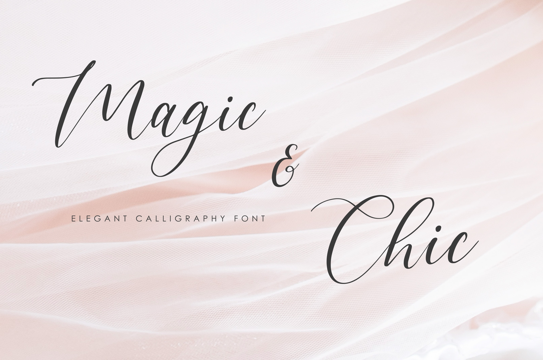 Magic & Chic Script Font example image 1