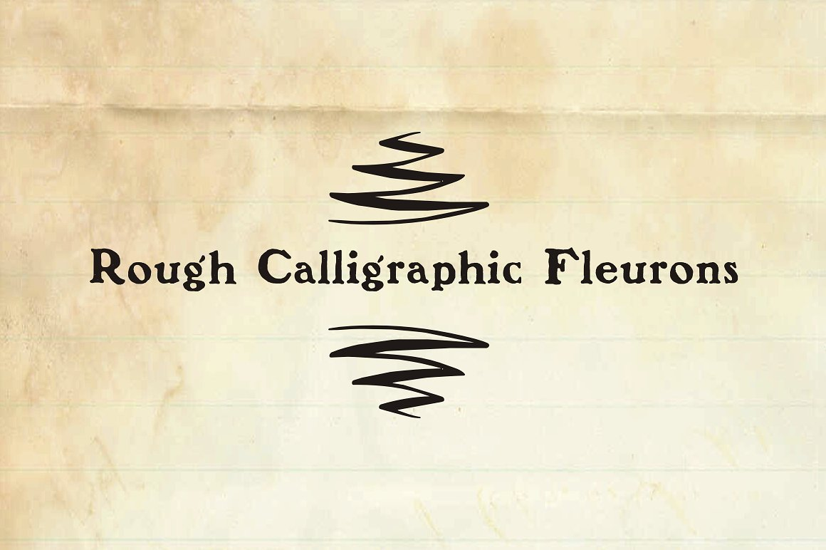 Rough Calligraphic Fleurons example image 3