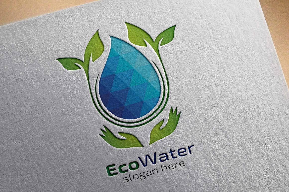 Eco Blue Water Drop Logo example image 3