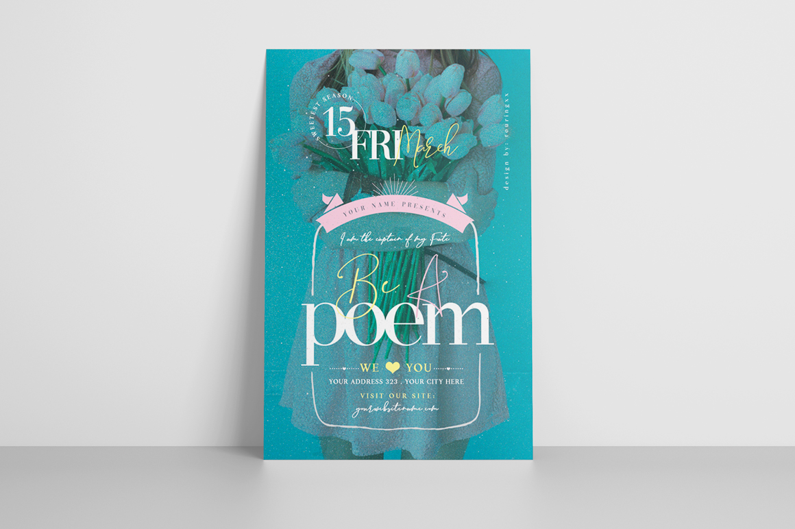 Be A Poem Flyer Template example image 3