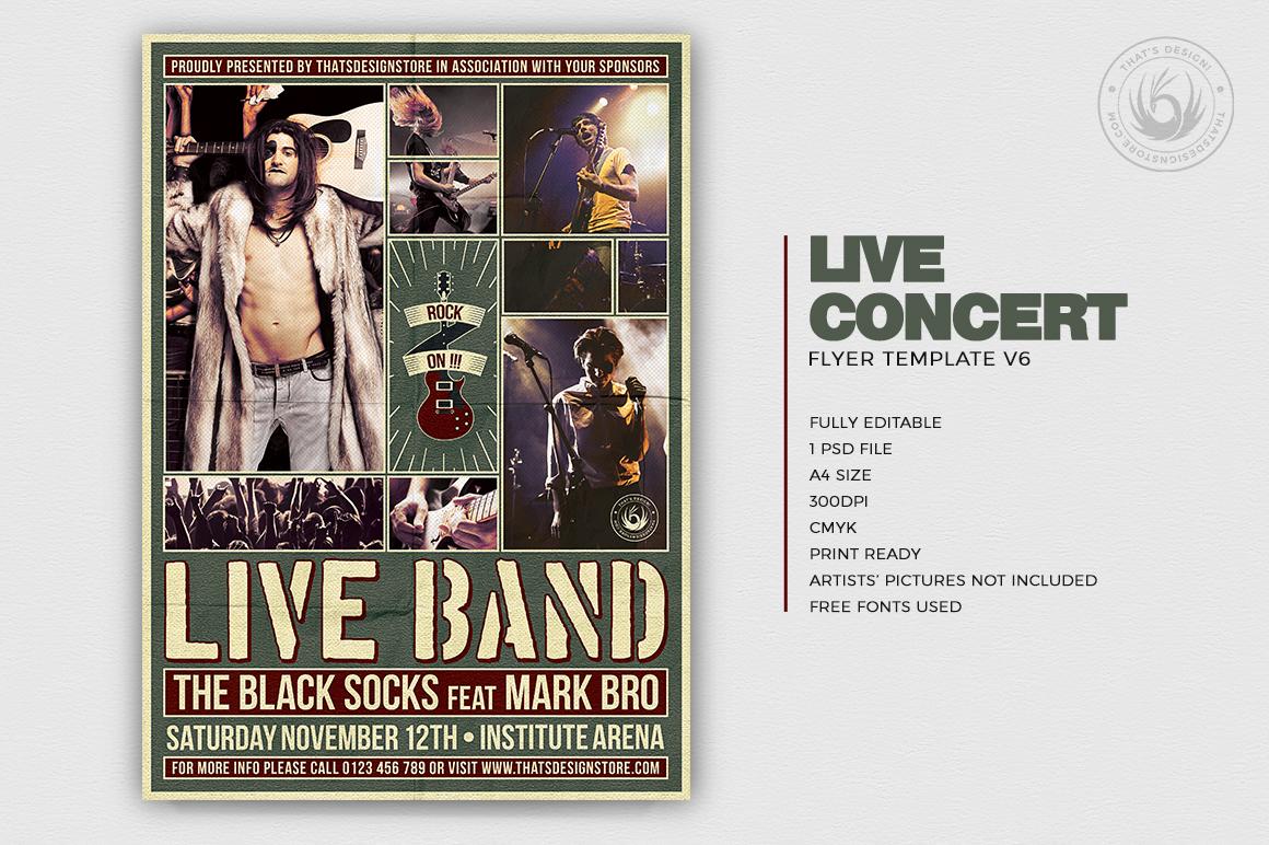 Live Concert Flyer Template V6 example image 2