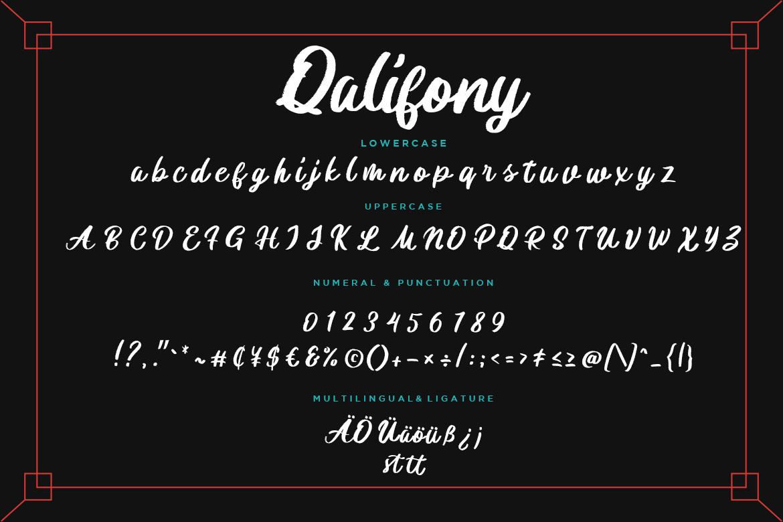 Qalifony Handwritten Brush example image 8