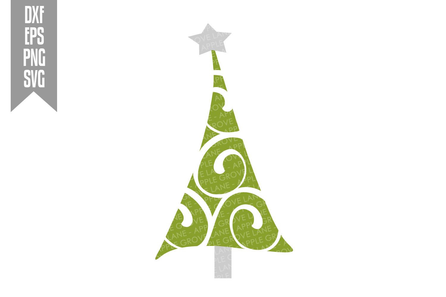 Christmas Tree Svg Bundle - 6 designs included - Svg File example image 7