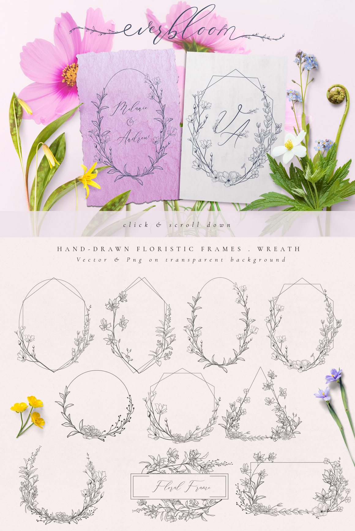 Flowered Monogram & Logo Collection example image 5