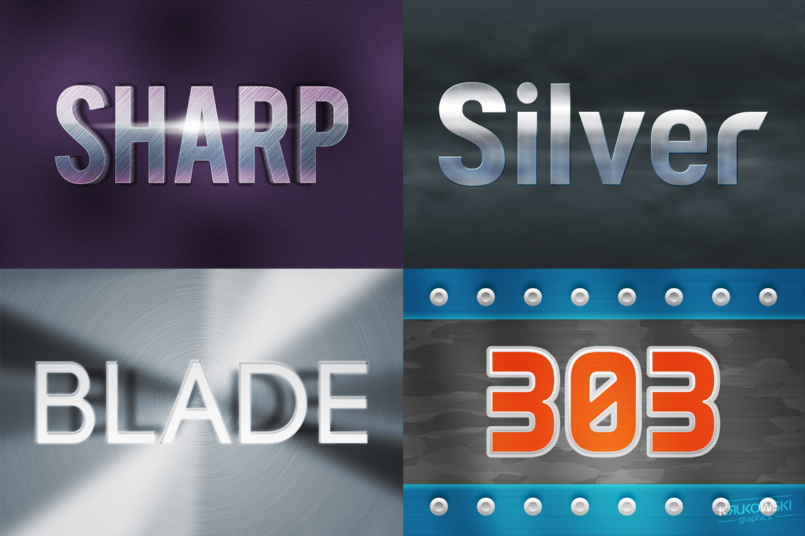 Metallic Text Effects Mockup example image 3