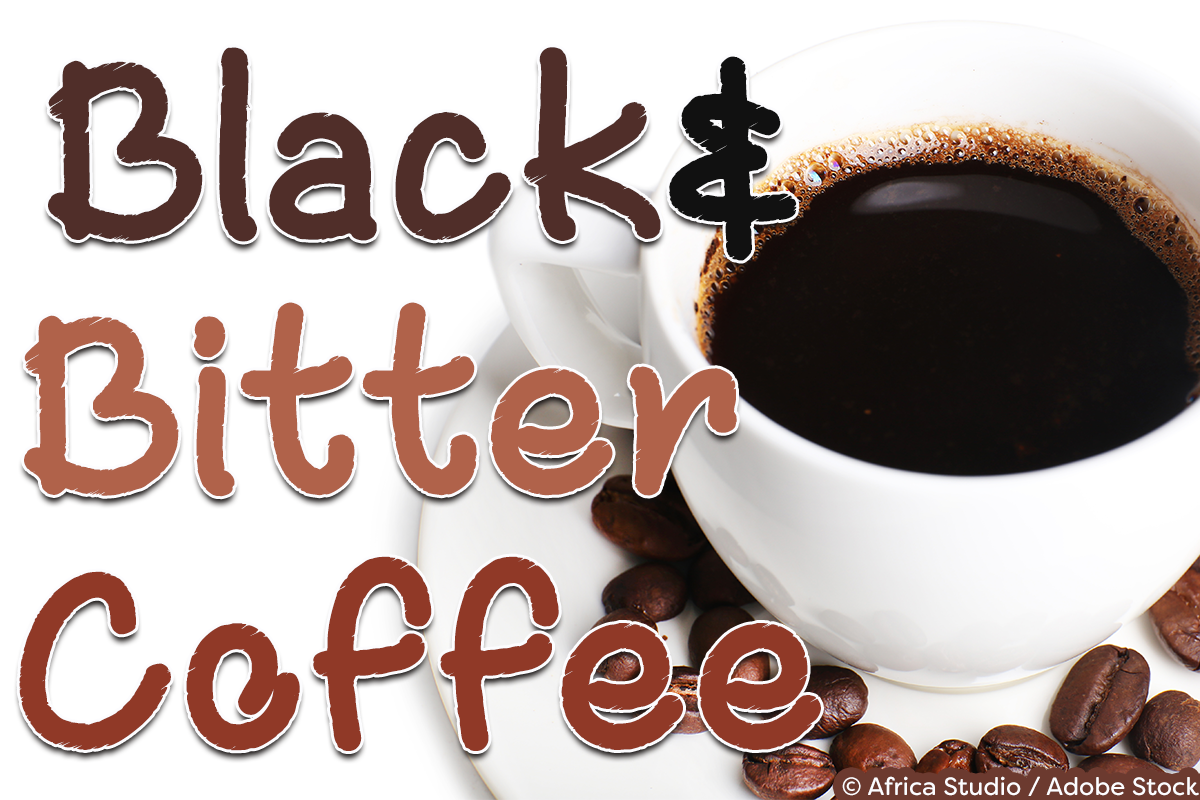 Black and Bitter Coffee example image 1