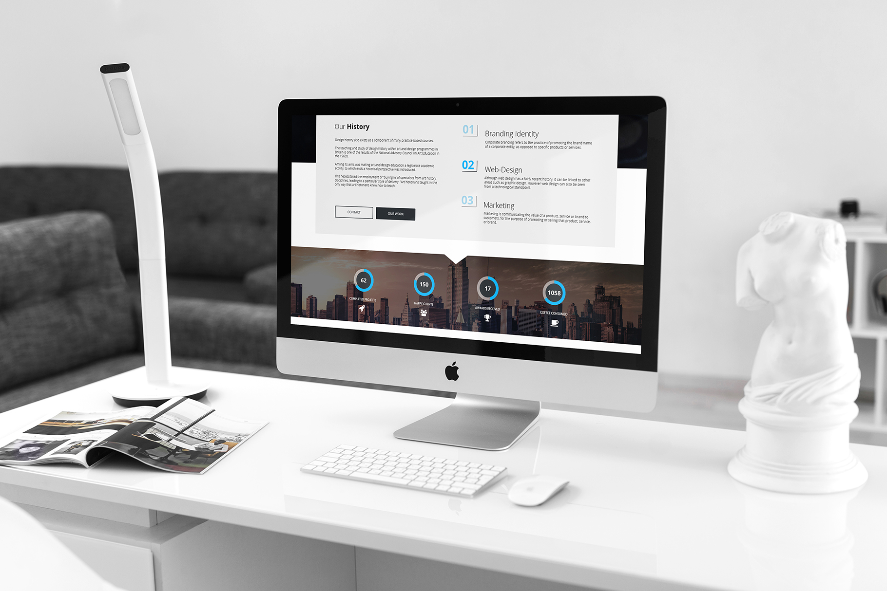 iMac Mock-Up's Clean Style example image 5