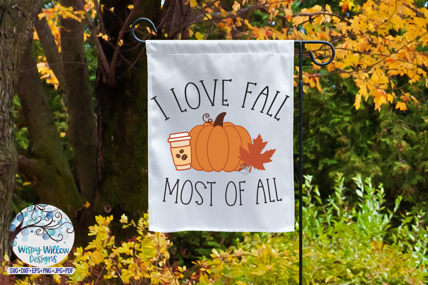 I Love Fall Most of All SVG | Fall Pumpkin SVG Cut File example image 3