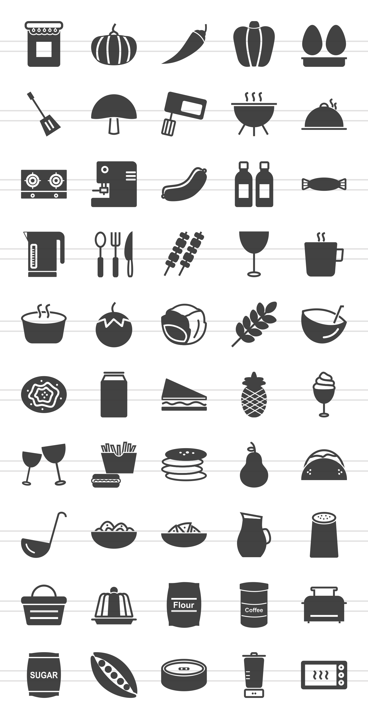 50 Food Glyph Icons example image 2