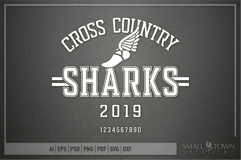 Sharks Cross Country, Shark mascot, PRINT, CUT, DESIGN example image 5