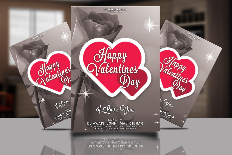 Valentines Day Flyer Bundle example image 3