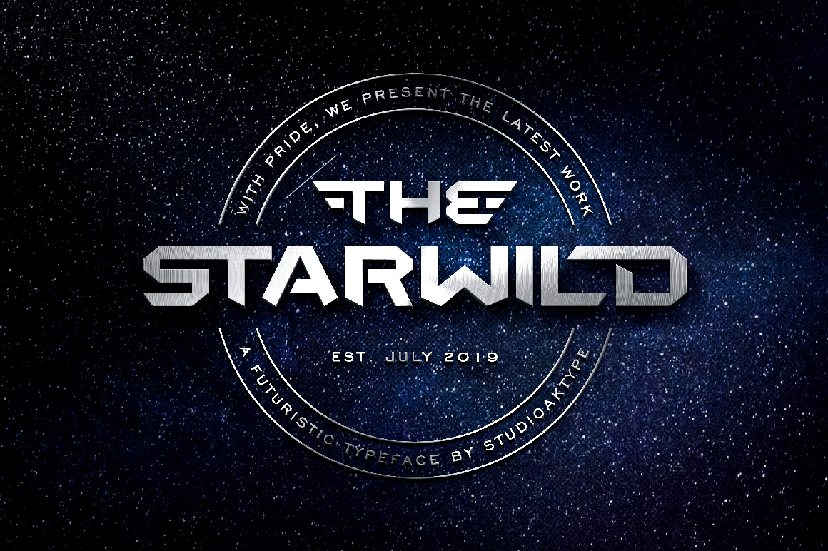 THE STARWILD - Futuristic Modern Font example image 1