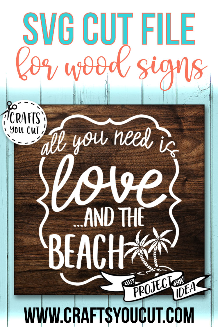 All You Need Is Love And The Beach - A Vacation SVG Cut File example image 2