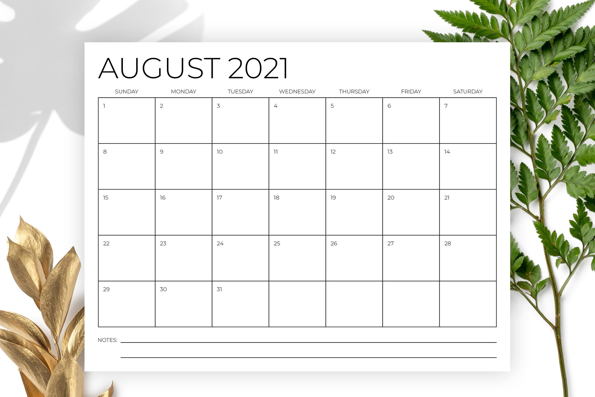 8.5 x 11 Inch Minimal 2021 Calendar example image 5