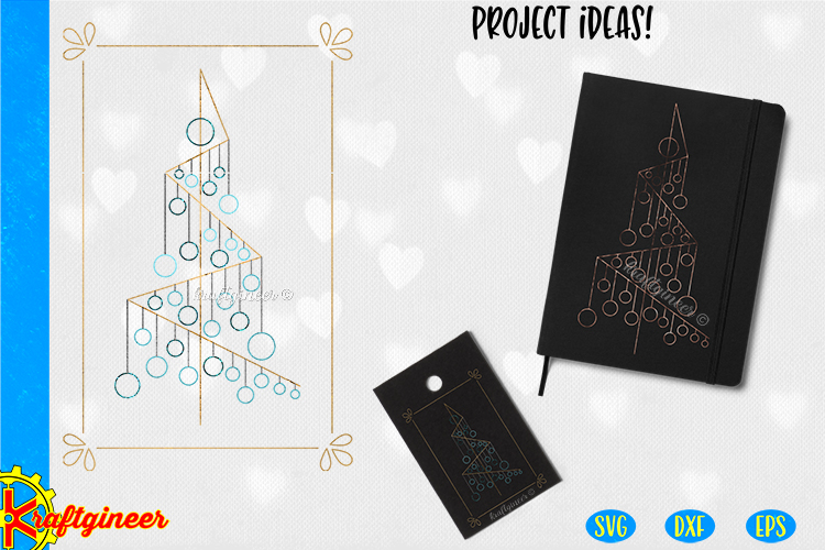 Single Line Xmas Tree SVG   Single Line SVG  Foil Quill example image 1