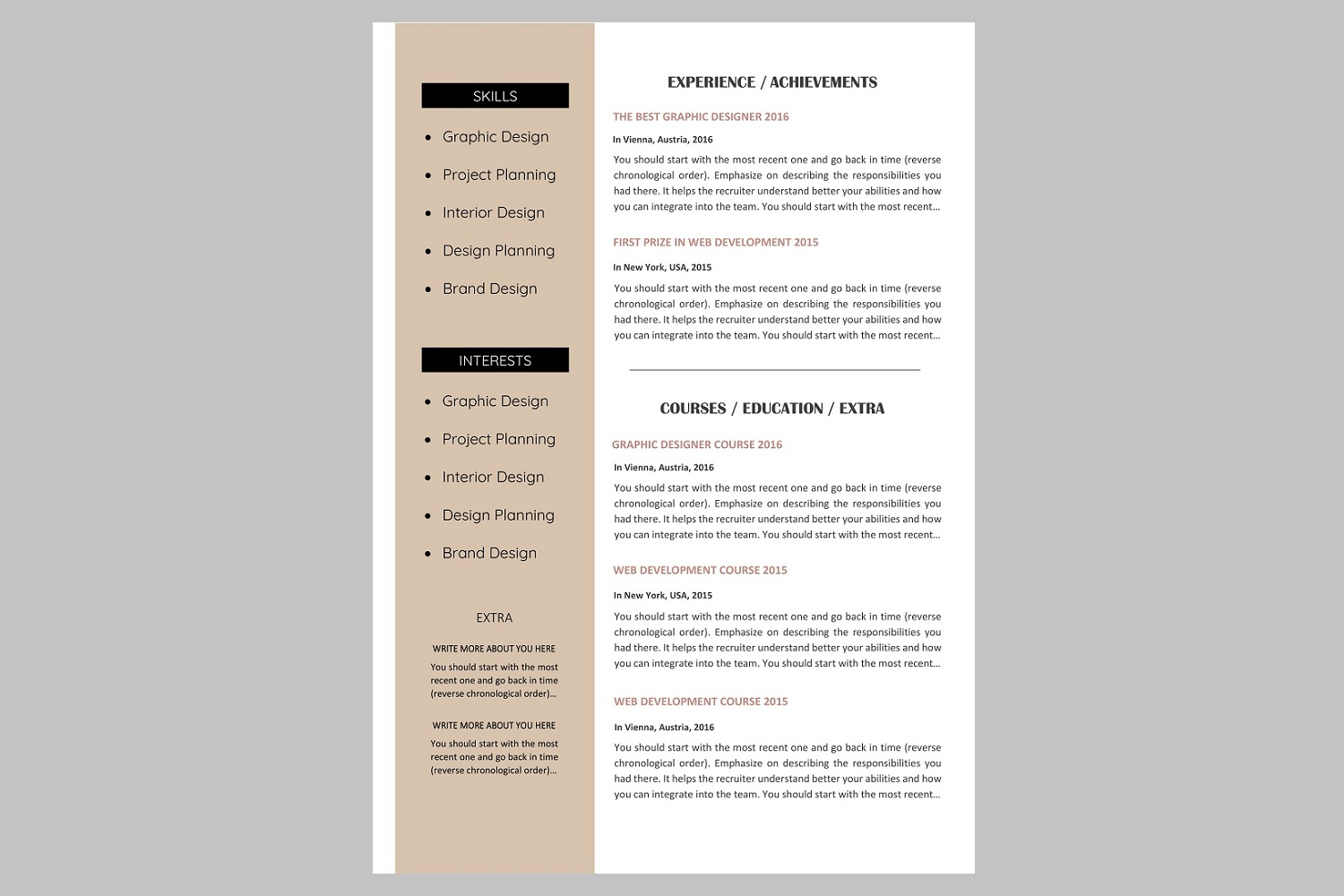 Creative resume template / CV. Bundle offer example image 3