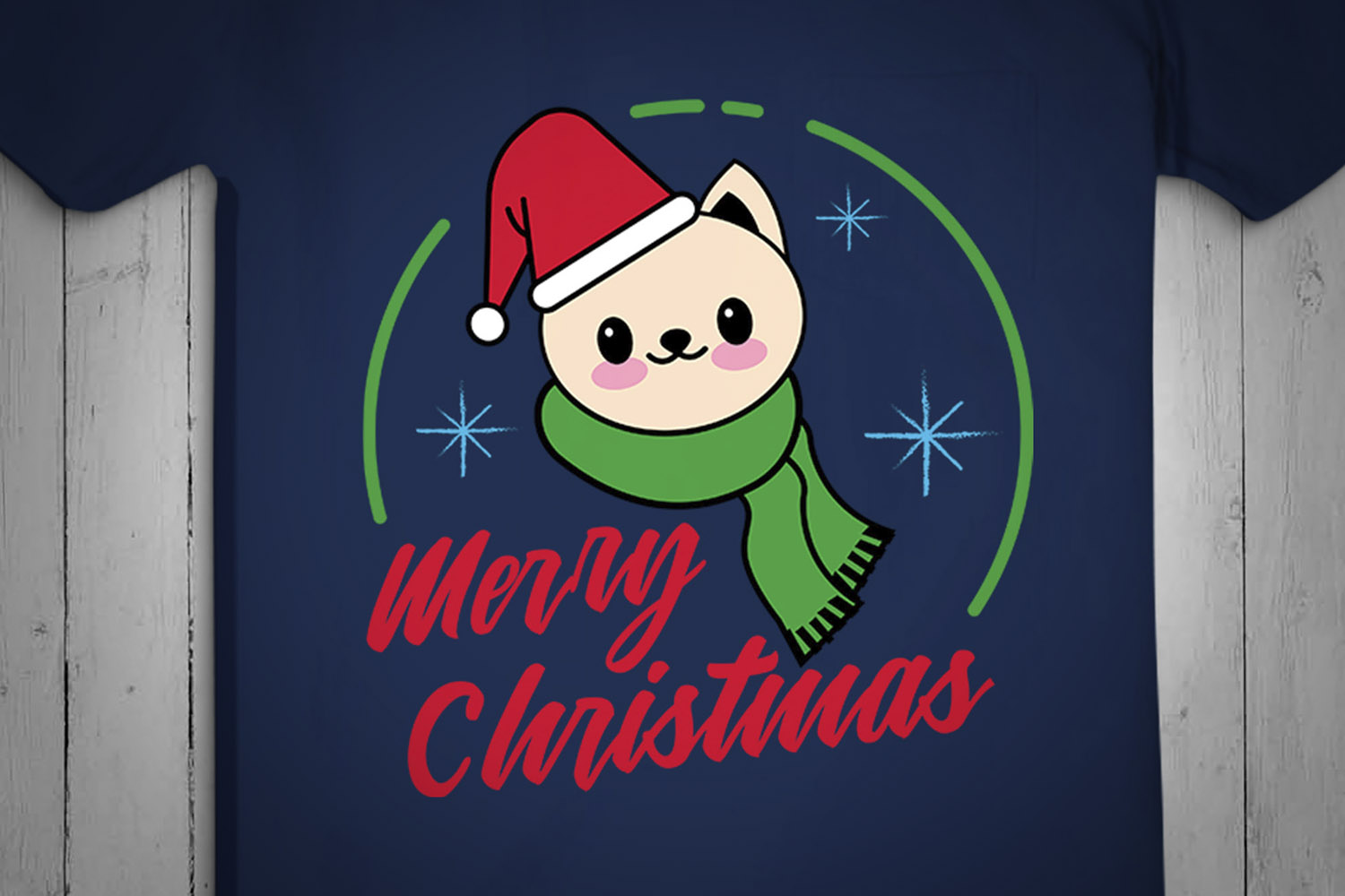 Cream Cat Christmas SVG, Christmas Svg, Designs, cut design example image 2