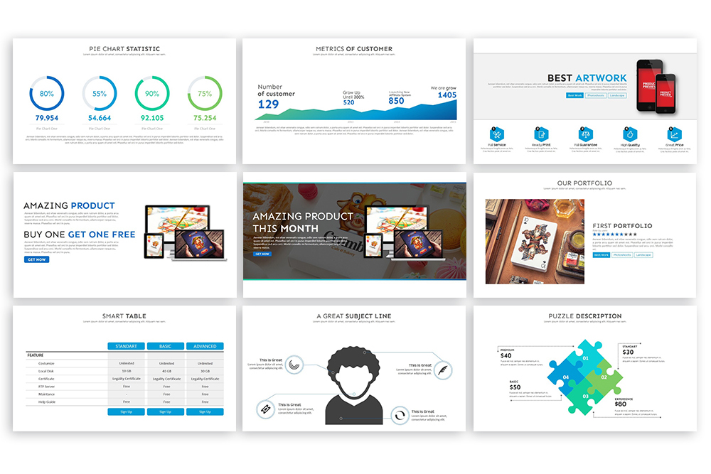 Clean PowerPoint Template example image 6