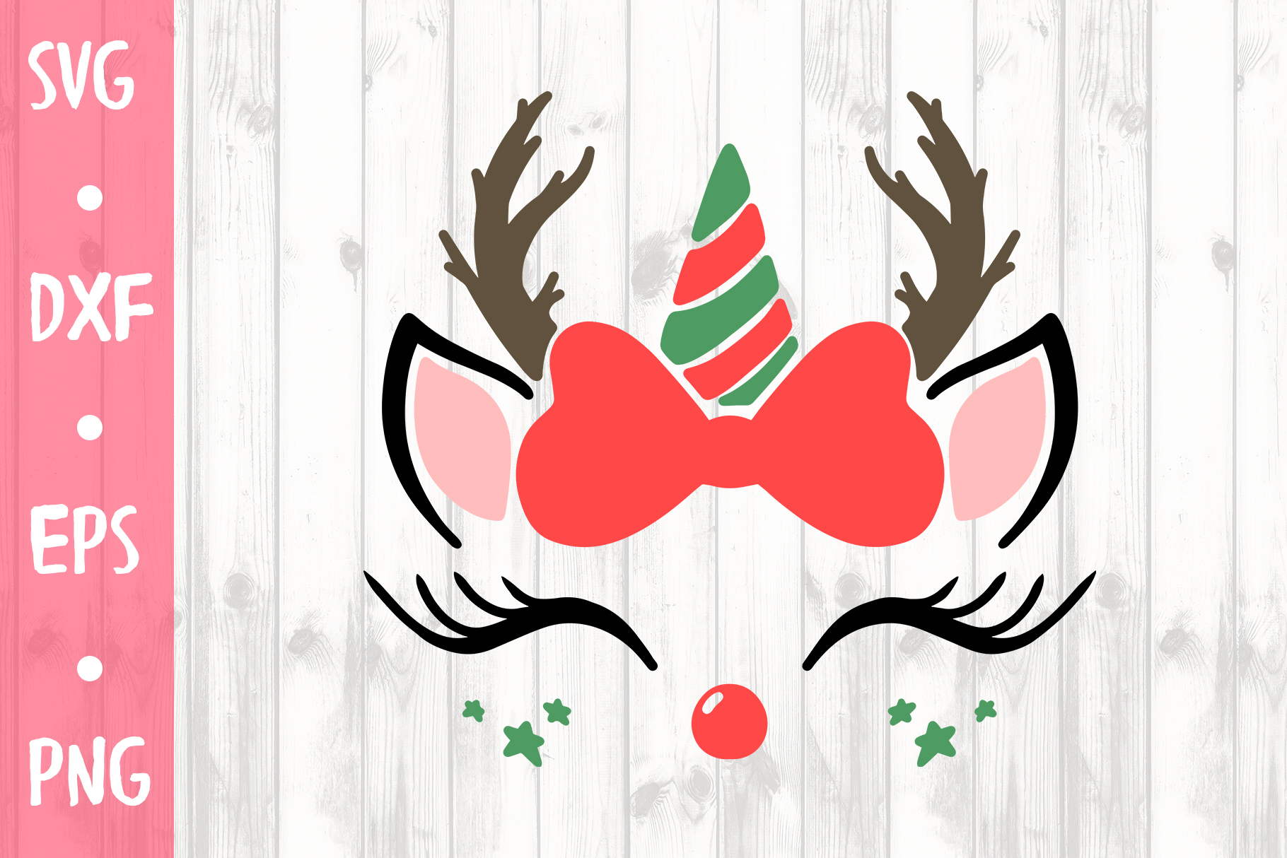 CUTE CHRISTMAS UNICORN SVG CUT FILE example image 1